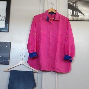 """""""Lauren,Ralph Lauren"""" Pink/Blue Linen shirt"""